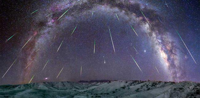 همراهی آسمان و ماه با اوج بارش شهابی جباری